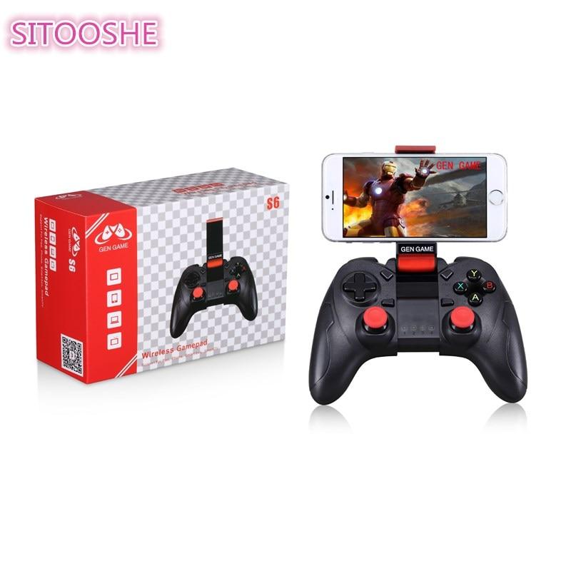 SITOOSHE Bluetooth Gamepad controlador inalámbrico para Android Teléfono/tableta Android/Android TV/Samsung Gear VR/jugar Station3