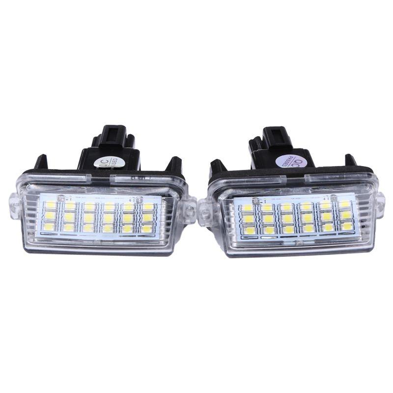2Pcs Car Led License Plate Light Parking Light External License Plate Light For Toyota Camry