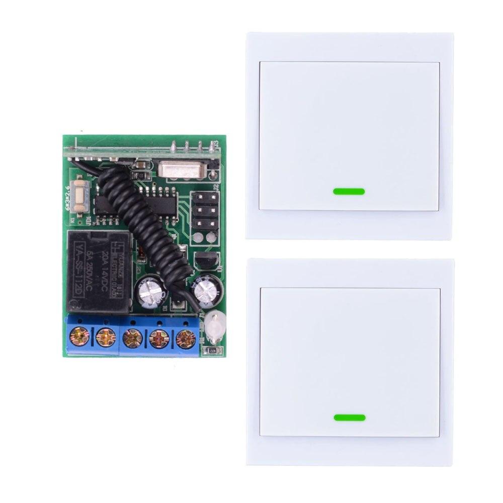 Receptor de interruptor de control remoto inalámbrico DC 12V 5A, Panel de pared, transmisor remoto, luces de techo para salón o dormitorio, lámparas de pared