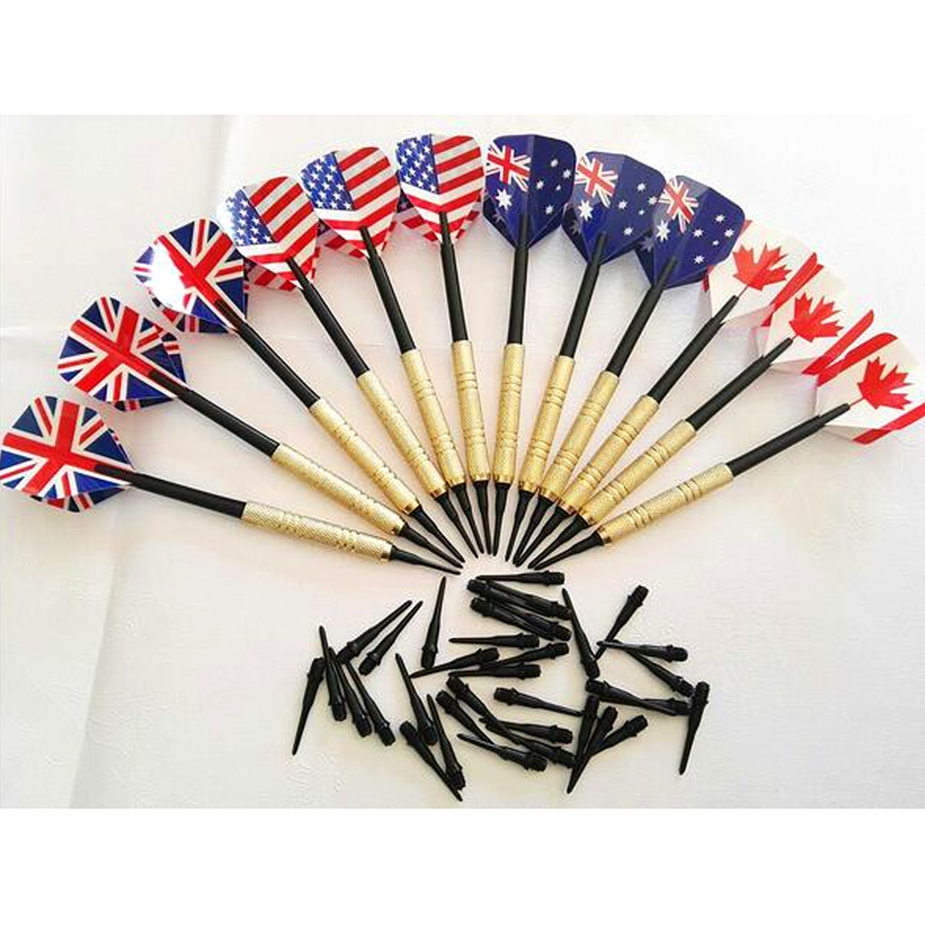 12 Pieces Professional 14 Grams Soft Tip Darts Set with Extra Plastic Tips for Electronic Dartboard Accessories