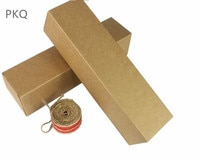 20Pcs Brown Carton Kraft Paper Box long sizes Wedding Gift Packing Boxes Party Favors Boxes for Wine bottle/oil bottle/cosmetic