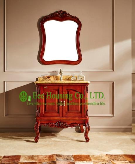 Gabinete de baño producto más vendido importación home depot madera antigua armario de baño a prueba de agua
