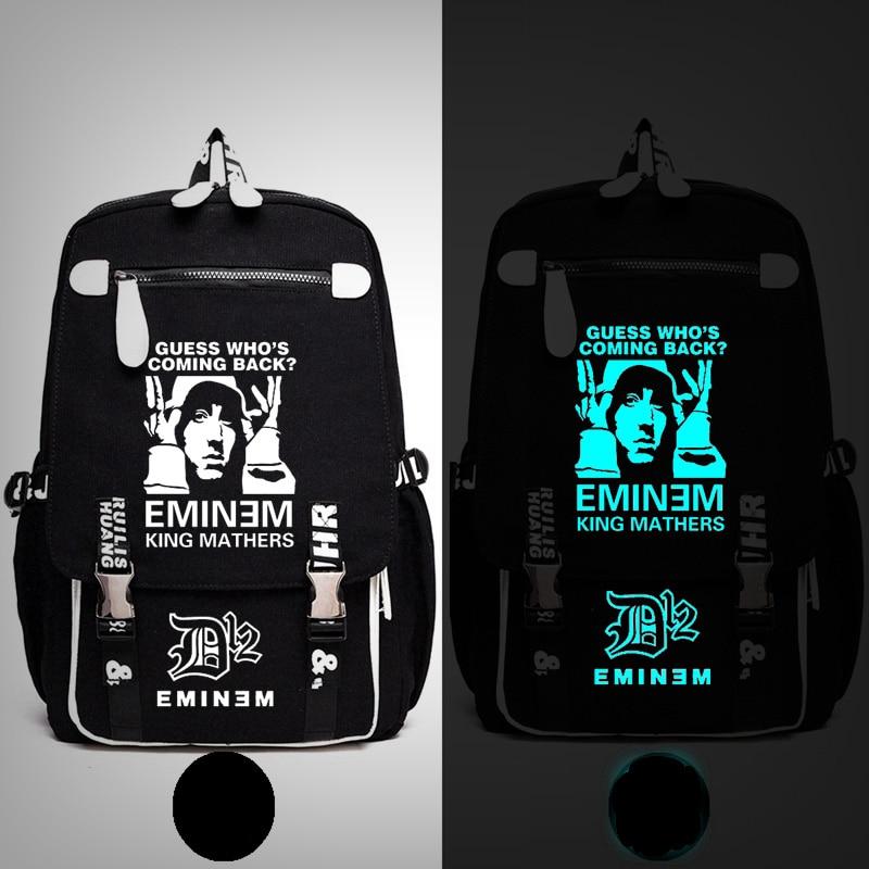 Rap dieu Eminem mauvais rencontre le mal je nai pas peur sac à dos Messenger lumineux sac école voyage sacs Anime cadeau