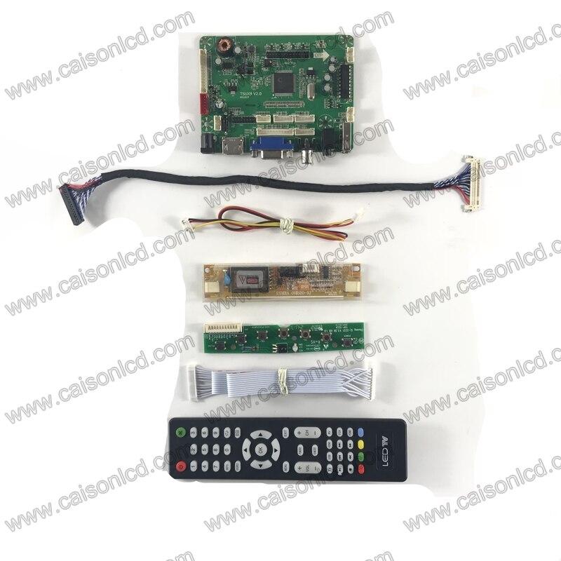 TSUX9 V2.0 LCD controller board mit HDMI VGA AV AUDIO für LCD panel 19 zoll 1440X900 LM190WX1-TLL1 TLL7 m190PW01 V7 V6 V5 DIY