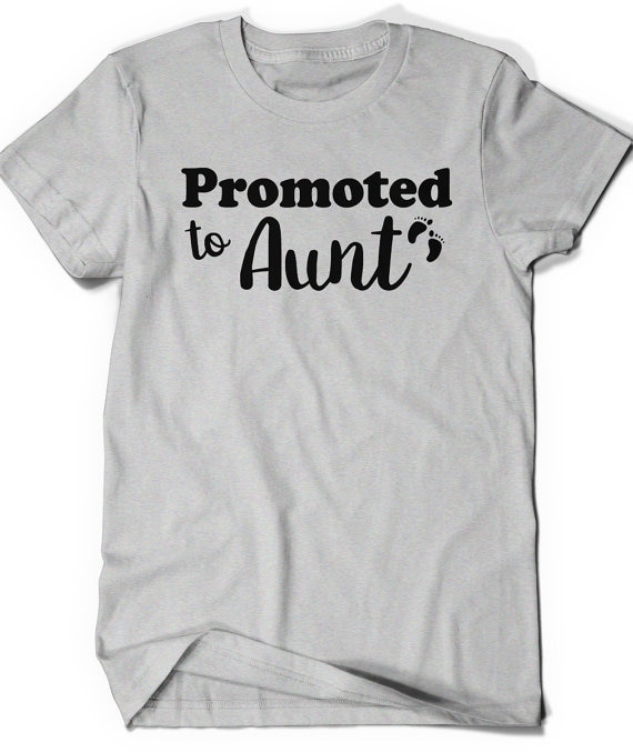 Camiseta de tía ascendida, camiseta de tía a ser regalo, hermana, mujer, presente, Announcement-D147 de embarazo