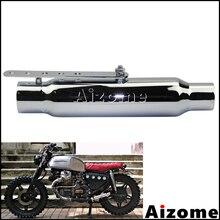 "12"" Shorty Exhaust Mufflers Silencer 38-45mm Inlet Motorcycle Exhaust Pipe For Triumph Honda CB450Yamaha Suzuki Scrambler"