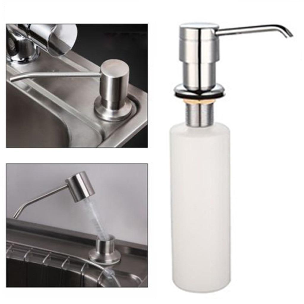 White Liquid Soap Dispenser Lotion Pump Cover Built in Kitchen Sink Countertop Soap Dispenser Sink Soap Dispenser Set