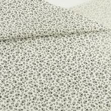 Petit Noir Fleur Imprimé 100% Coton Tissu Pré-cut Fat Quarter Belle Conceptions Patchwork Tissu Artisanat Poupées Tissu À Coudre CM