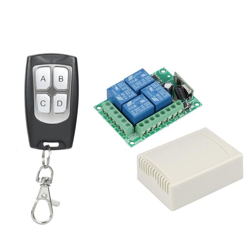 DIFODA, interruptor de Control remoto inalámbrico Universal de 433 Mhz, módulo receptor de relé de RF + RF de 12V CC, transmisor de 433 Mhz Diy