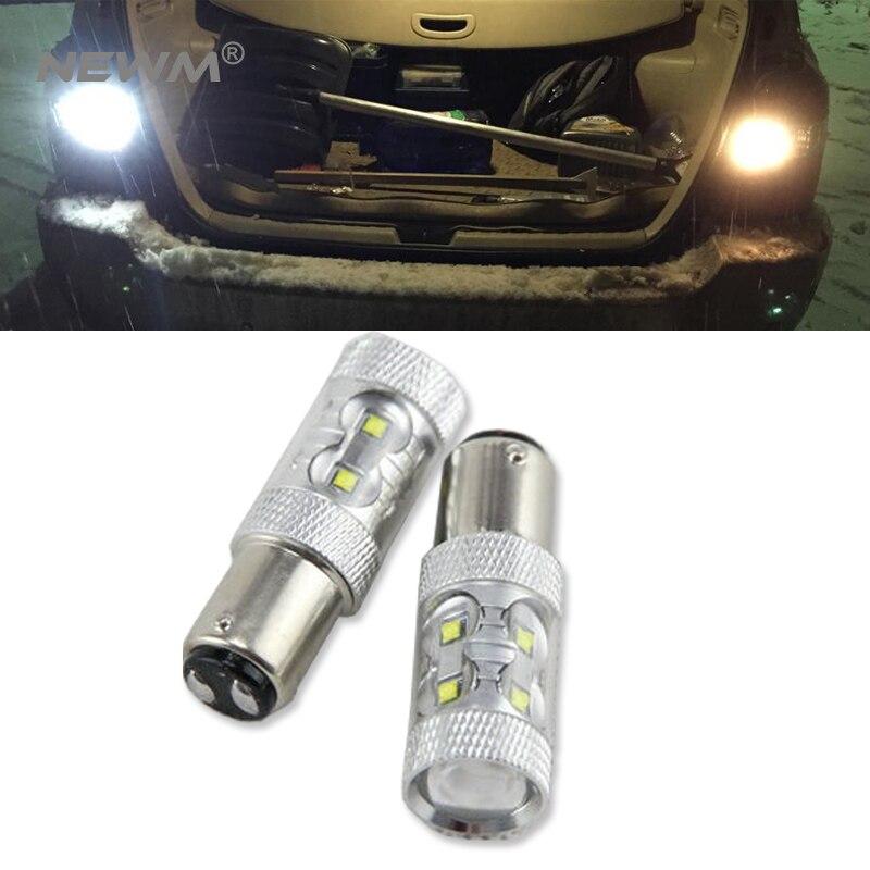 2x P21/5 W LED COCHE BAY15D bombilla led 1157 cola de la señal de freno inversa DRL luz led amarillo rojo 6000 K blanco