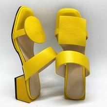 Frauen hausschuhe 4,2 cm platz heels slipper offene spitze frauen sandalen rosa blau gelb damen schuhe frau große größe 32-48