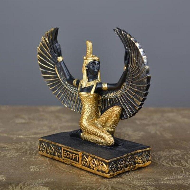 Classical Egypt Pharaoh Cleopatra Figure Resin Craftwork Figurines Personality Modern Fashion Main Bar Desktop Decoration X1952