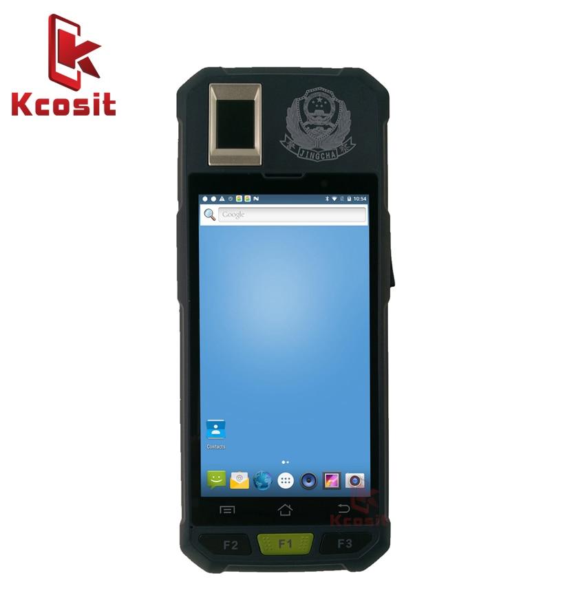 Original Kcosit KB50 2D Barcode Scanner Android Handheld PDA Terminal de Dados Móvel Leitor de Impressão Digital RFID LF HF UHF 2 gb RAM NFC