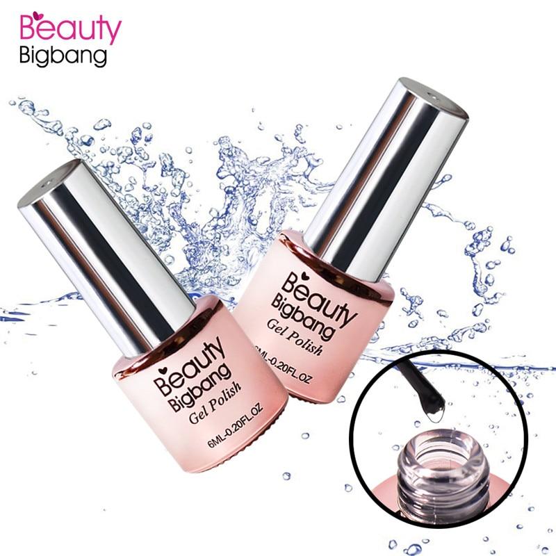 BeautyBigBang Base Coat Primer Nail Gel 6 ML Nail Art Soak Off Color Gel Polish Acrylics Gel Cured In For LED UV Lamp Base Coat