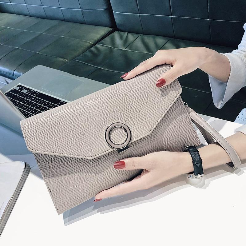 Simple PU Leather Small Solid color Women Crossbody Bag Chain Envelope Messenger Shoulder Bag Purse Handbags Bolsas Feminina