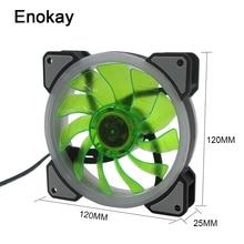 Wholesale 3pcs 3 Pin 12v 12025 DC LED RGB 120mm 120x120x25mm Computer Fan PC CPU Cooler Fan