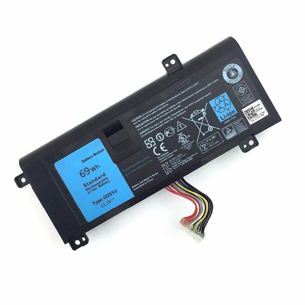 Genuina nueva batería para Dell Alienware 14 A14 M14X R3 M14X R4 14D-1528 serie G05YJ 0G05YJ Y3PN0 8X70 T 11,1 V 69WH