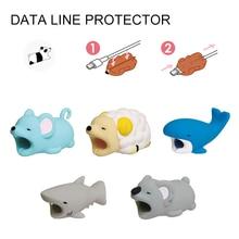 Mignon Animal dessin animé Anti rupture housse de protection pour Figure USB câble de données USB chargeur câble écouteurs câble manchon de protection