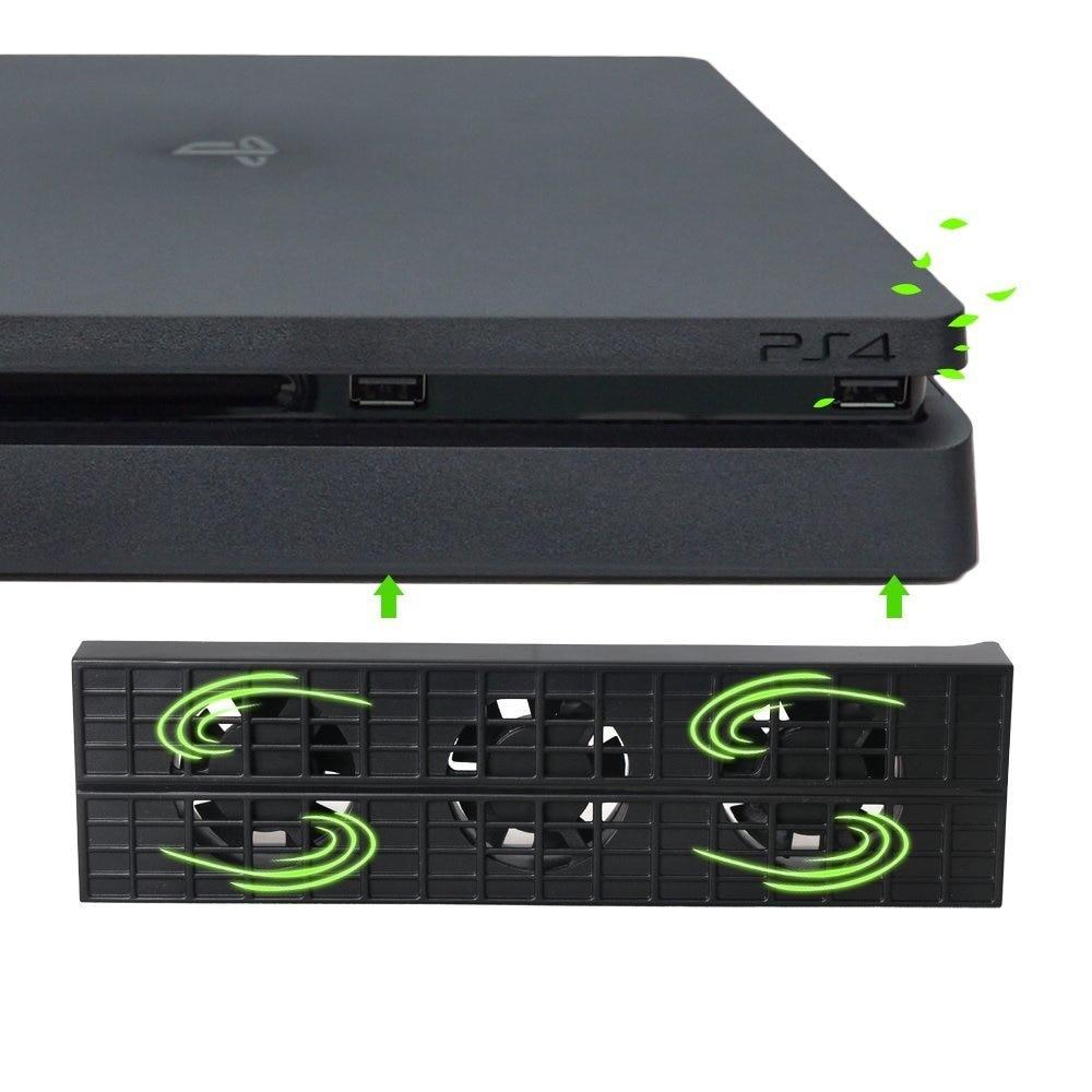 Ventiladores enfriadores de consola para playstation 4, USB Delgado externo de 3 ventiladores, Cable USB de enfriamiento de temperatura Turbo para consola de juegos PS4 Slim
