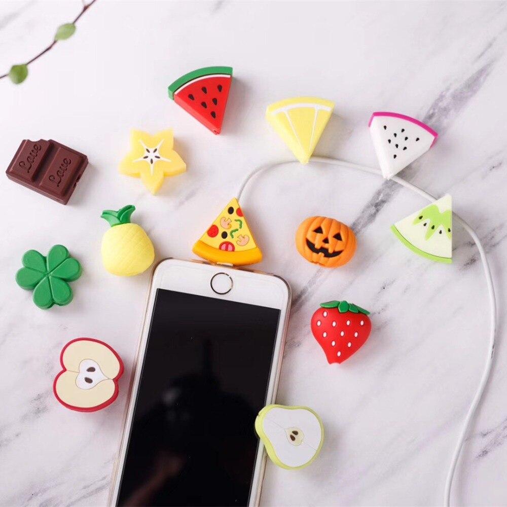 Cable USB auriculares Protector de cubierta para Iphone 7 7 Plus 6 S 6 5S Iphone 5 X XS X Max XR casos para Huawei P30 Lite Pro