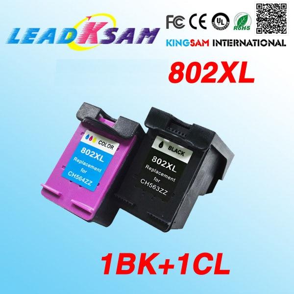 2x Para 802XL cartucho de tinta compatível para hp802 802 Deskjet 1000 1010 1050 1510 2000 2050 3050 J110a J210a J410a J510a J610a