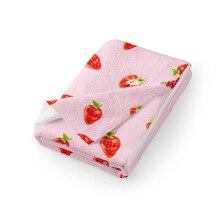 Serviette de visage en microfibre blanche/rose   Serviette de visage de 35x70cm, serviette de toilette petite serviette de lavage en fiber de bambou