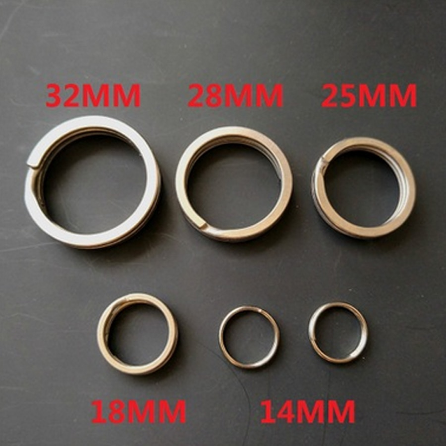 10 шт. 100% TC4 титановый сплав брелок для ключей открытый портативный брелок с пряжкой круг EDC аксессуары для кемпинга CNC FW136