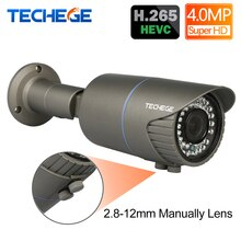 H.265 4.0MP 48V 2.8-12mm 수동 렌즈 Hi3516D 와이드 다이나믹 Onvif P2P IR 야간 POE IP 카메라 이더넷 Xmeye App Cam