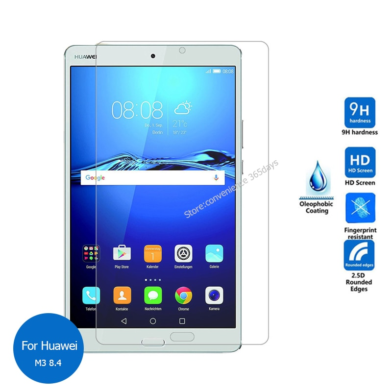 For Huawei Mediapad M3 8.4 Tempered Glass Screen Protector 9h Protective Film on Media pad M 3 BTV W09 BTV-W09