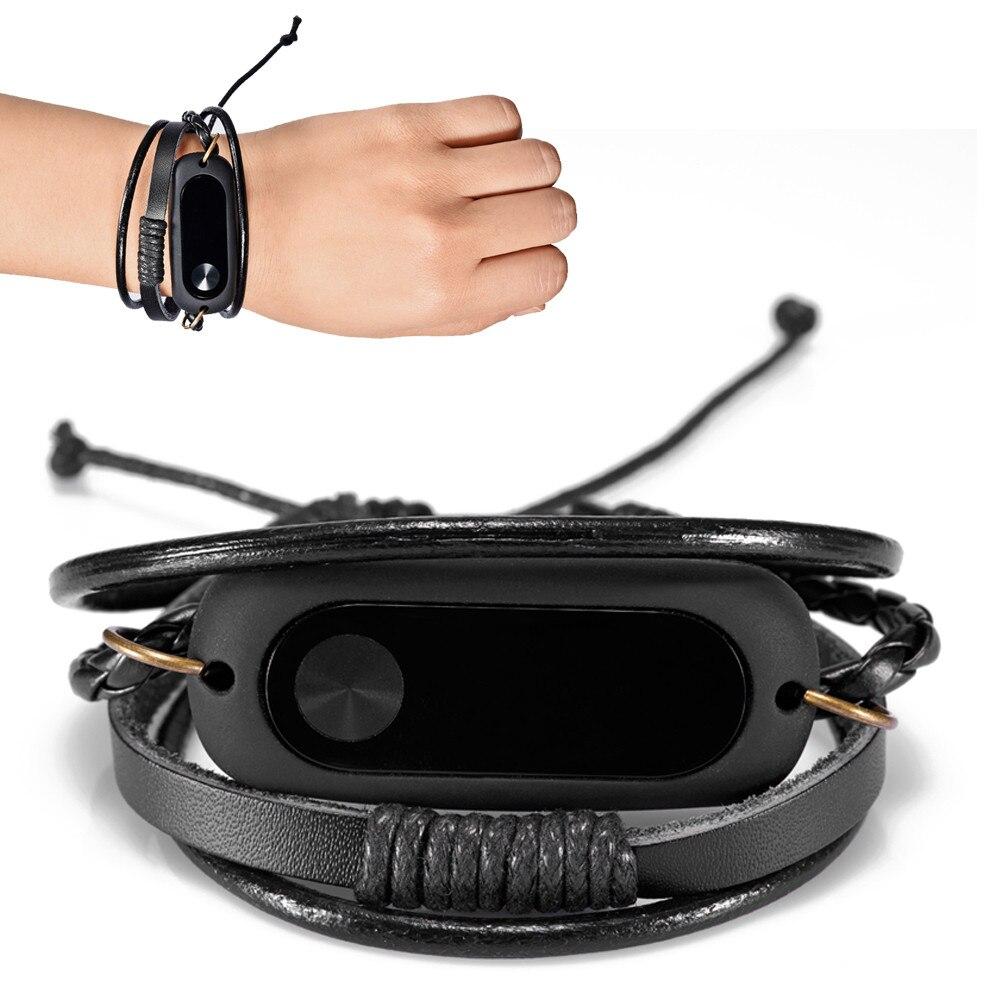 Pulseira de couro para mi band 2, bracelete para substituição de mi band 2 pulseira 2019 l0611