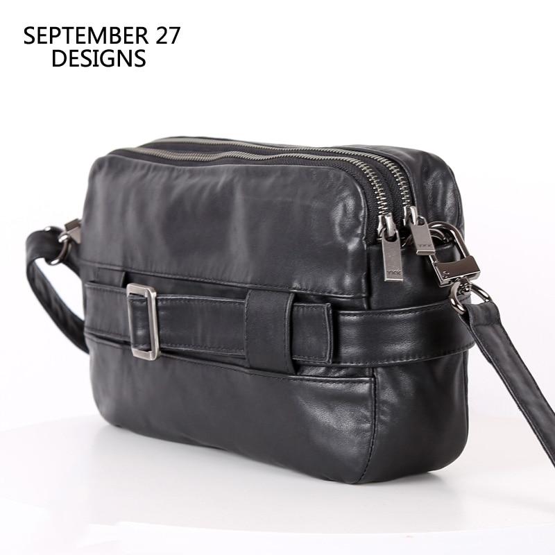 Bolso de mensajero para hombre, bolso de mano multifuncional de cuero genuino, bolso 100% de cuero de vaca, Bolso pequeño de viaje, bolsos de hombro tipo bandolera, bolsos