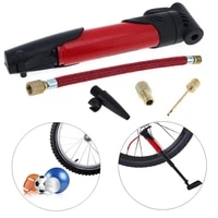 mini portable bicycle tire air pump inflator with pump inflator extension tube