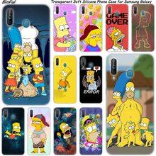 Chaude Homer Simpson Silicone Téléphone étui pour samsung Galaxy A80 A70 A60 A50 A40 A40S A30 A20E A2CORE M40 Note 10 Plus 9 8 5 Mode