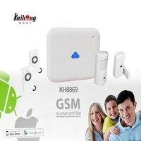 Kit systeme dalarme de securite domestique sans fil  GSM  SIM  anti-cambriolage  infrarouge PIR  433 MHZ  application Android ISO
