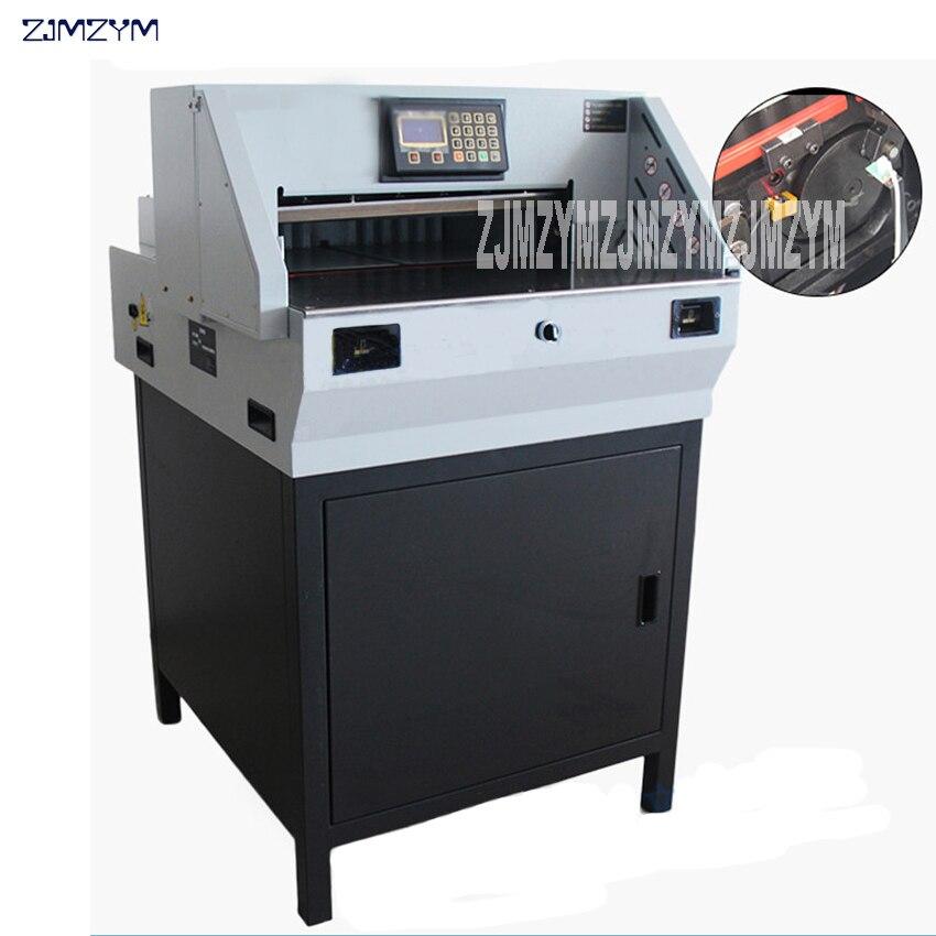 E490R-آلة قطع الورق الكهربائية ، قاطعة الورق الأوتوماتيكية ، سكين مائل مزدوج القطب ، قطع صامت عالي السرعة 8 سنتيمتر