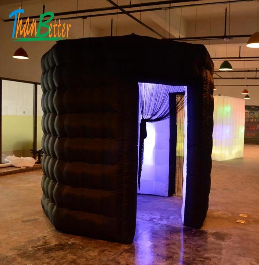 اثنين من الباب 2-الأبواب مخصص جميلة دائم الأسود المثمن نفخ مقصورة تصوير فوتوغرافي