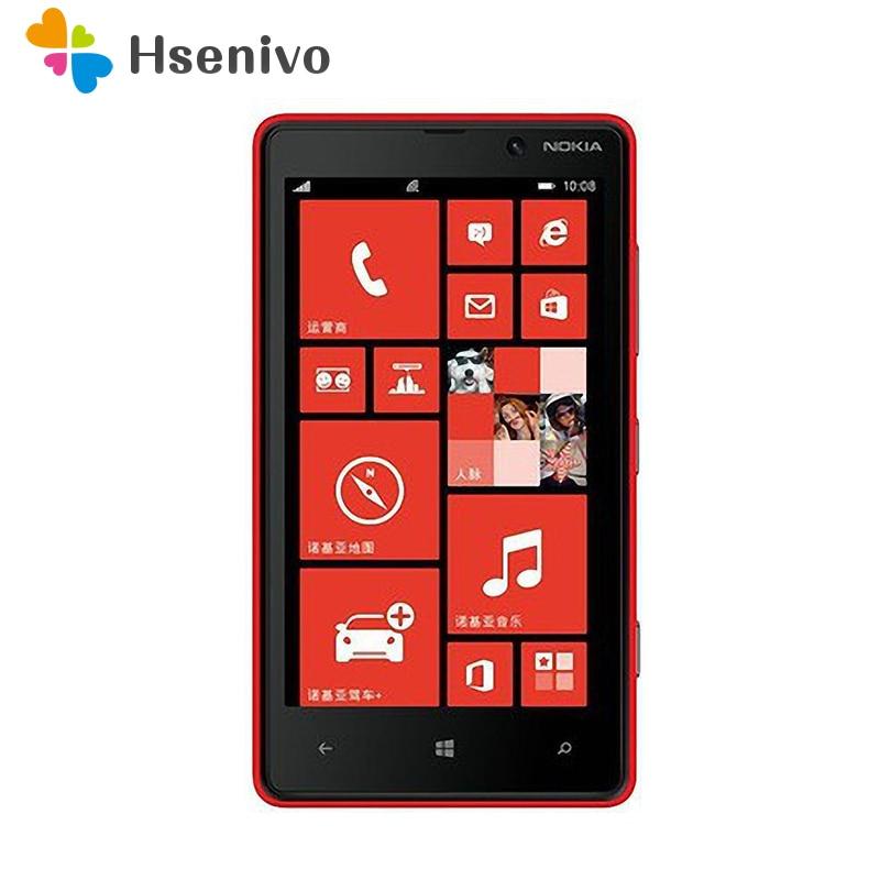 -Teléfono Nokia Lumia 820 reacondicionado, 8GB de ROM, 8GB, cámara de 8.0MP,...