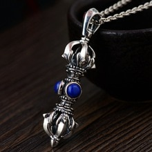 S925 argent antique processus hommes avec lapis lazuli vajra multiplicateur nouveau Thai argent vente en gros