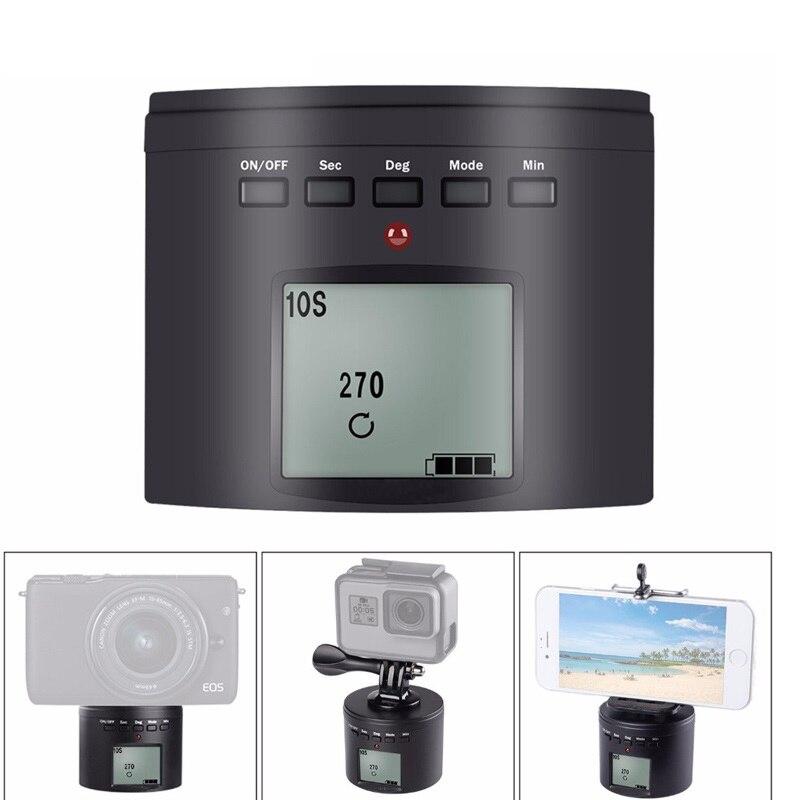 Adaptador de trípode eléctrico Multi giradiscos montaje para Gopro Hero 7 Osmo acción para iphone Samrtphone cámara Digital 360 Multi-cámara