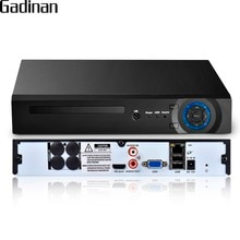 GADINAN H.265 32CH 5MP/8CH 4K (8MP) /32CH 1080P Segurança 1x6TB SATA HDD com XMeye NVR Apoio App 3 Saída HDMI VGA G WI-FI P2P