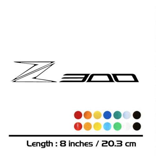 2 X nouvelles ventes MOTO vélo réservoir de carburant roues carénage cahier bagages casque MOTO autocollant décalcomanies pour Kawasaki Z300