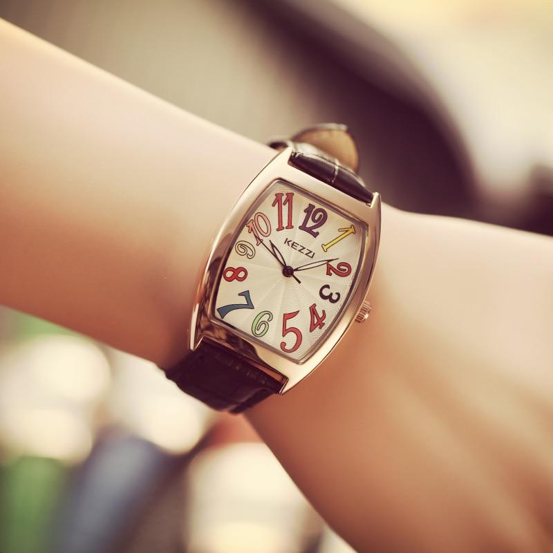 B-9060 BAOSAILI 2018 Ladies Fancy Watches Relogio Feminino Tonneau Colorful Numbers Dial Women Wrist Watches