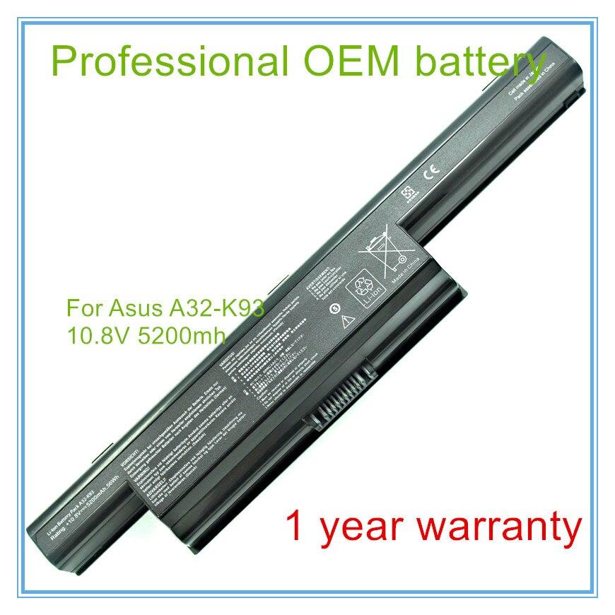 Bateria do portátil para A93S A93SM A93 A95 K93 K93S K93SV K95V A41-K93 A32-K93, frete grátis