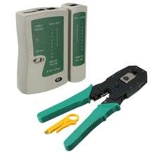 RJ45 RJ11 RJ12 CAT5 CAT5e Kit doutils réseau LAN Portable testeur de câble Utp et pince à sertir pince à sertir PC XXM8