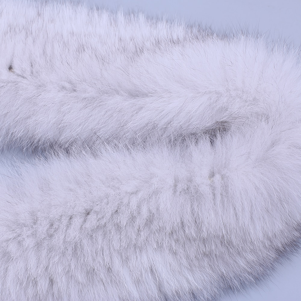 Brand New 2020 Winter New Arrival Women's Men's Genuine Fox Fur Hand Knitted Long Warm Fashion Scarf Scarves Wraps Mufflers