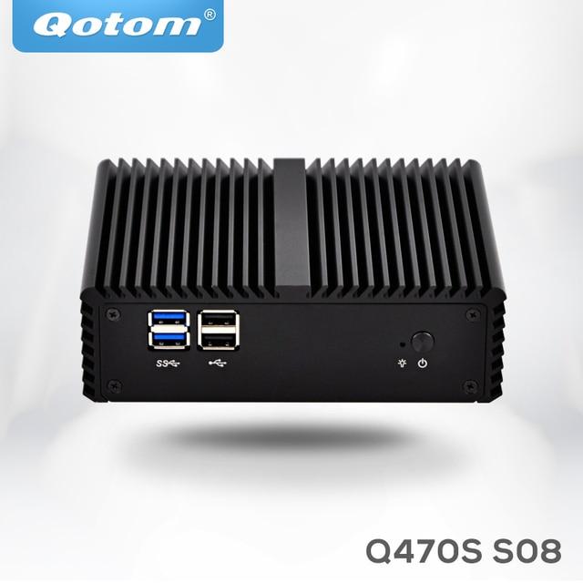 Qotom mini pc i7 Q470S with Core i7-4500U up to 3.0GHz AES-NI 3G/4G SIM slot,WOL 7/24h Fanless Low Power small desktop computer 4