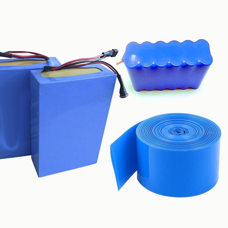 2M PVC heat shrink tube Shrink tube a variety of specifications 18650 battery shrink sleeve Insulation casing Heat shrink blue