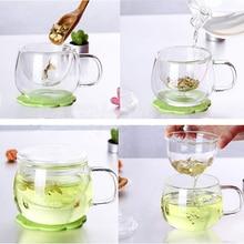 1 Set Clear Coffee Tea Mug Transparent  Tea Glass Cup Milk Coffee Tea Mugs With Infuser Filter Lid Kitchen Tool Wholesale