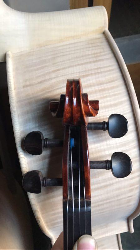 4/4 Violin Handmade Real Ebony Fingerboard Natural Flame Maple Violins musical instrument with case violin bow enlarge