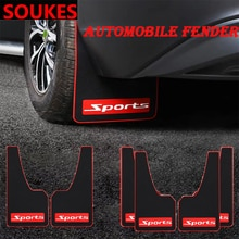Auto Styling Sport Schlamm Klappe Kotflügel Fender Abdeckung Für Audi A3 A4 B8 B6 A6 C6 A5 B7 Q5 C5 8 P Q7 TT C7 8 V A1 Q3 S3 A7 B9 8L A8 80